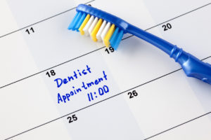 toothbrush dental appointment